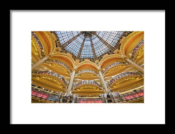 Ile-de-france Framed Print featuring the photograph Dome And Balconies Of Galeries by Izzet Keribar