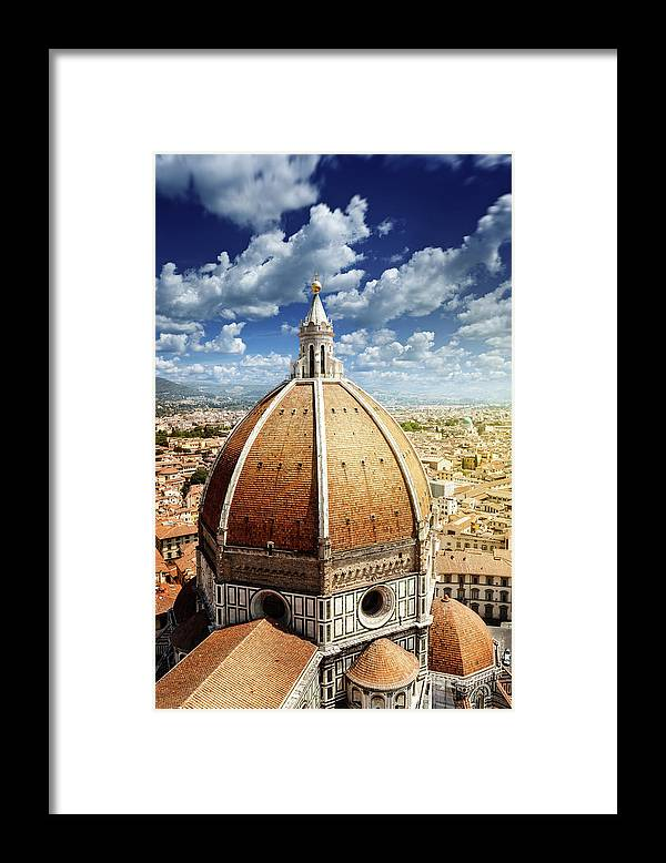 Scenics Framed Print featuring the photograph Duomo In Florence by Da-kuk