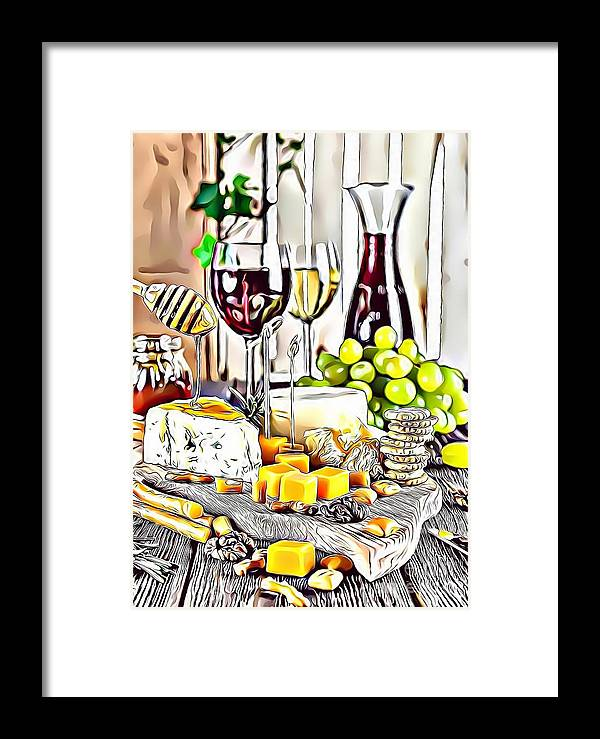 Urban Framed Print featuring the digital art 1 Eat Me Now by Leo Rodriguez