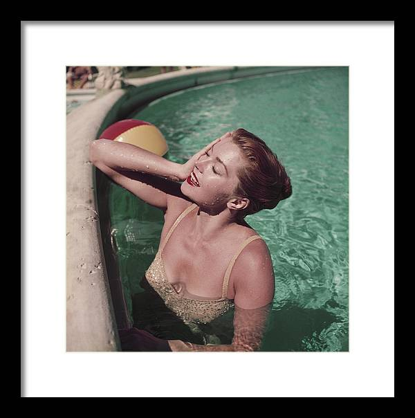 People Framed Print featuring the photograph Esther Williams by Slim Aarons