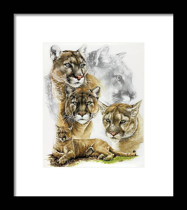 Fierce Framed Print featuring the painting Fierce by Barbara Keith