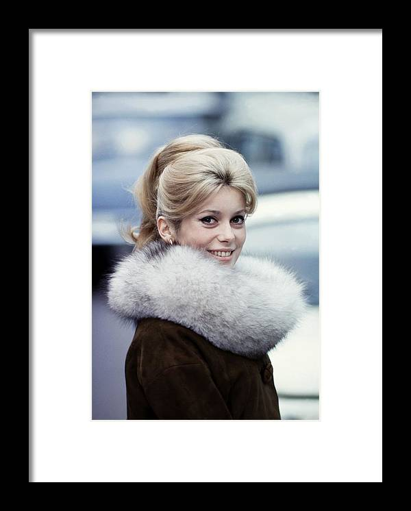 People Framed Print featuring the photograph Files Pictures Of French Actress by Pat