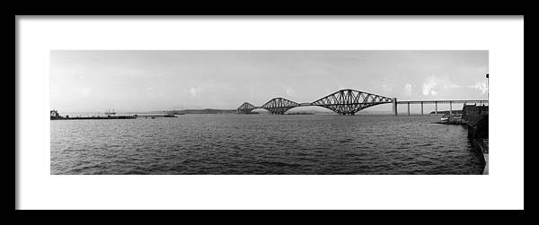 Lothian Framed Print featuring the photograph Forth Bridge by Alfred Hind Robinson