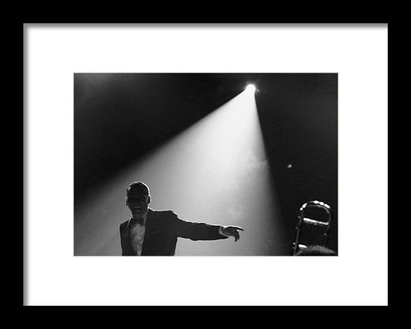 Singer Framed Print featuring the photograph Frank Sinatra On Stage by John Dominis
