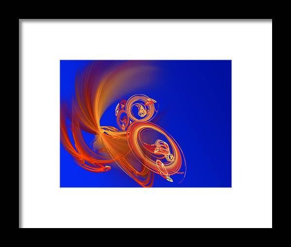 Motion Framed Print featuring the digital art Frantic by Werner Hilpert