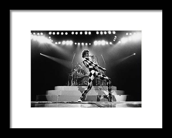 Freddie Mercury Framed Print featuring the photograph Freddie Mercury Of Queen by George Rose
