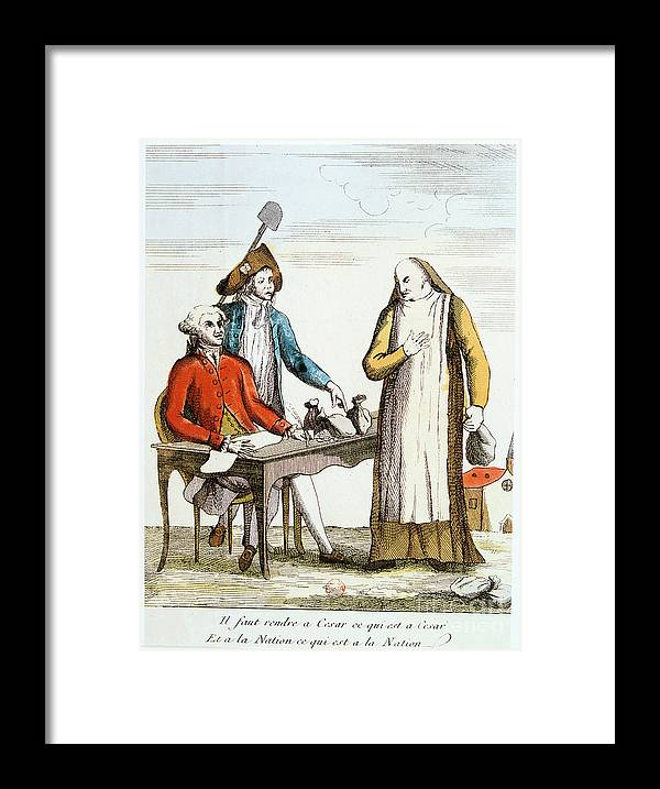 Engraving Framed Print featuring the drawing French Revolution 1789 by Print Collector