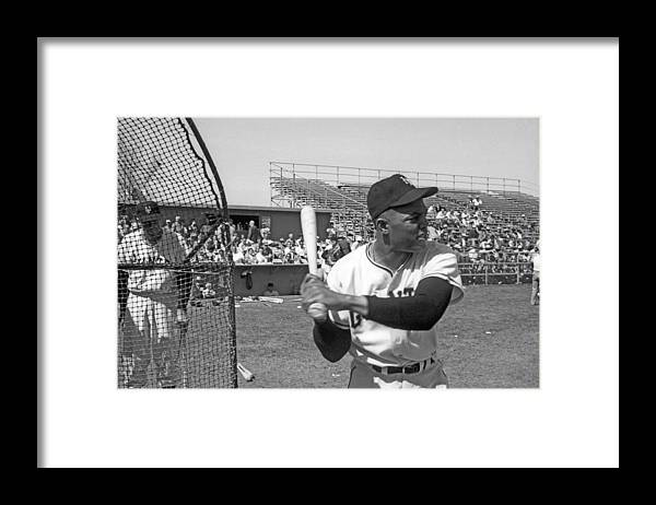1950-1959 Framed Print featuring the photograph Giants Spring Training by Michael Ochs Archives