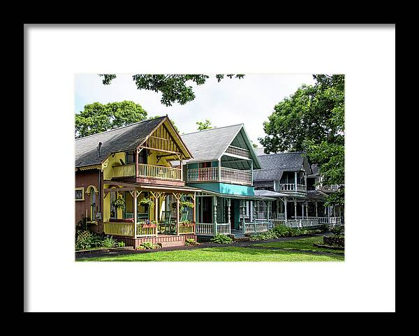 Gingerbread House Framed Print featuring the photograph Gingerbread Houses On Martha's Vineyard by Brendan Reals