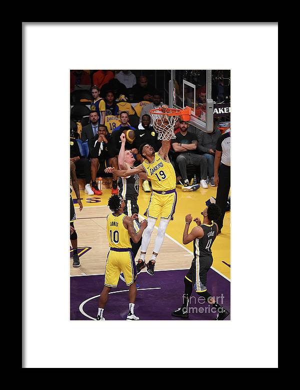 Nba Pro Basketball Framed Print featuring the photograph Golden State Warriors V Los Angeles by Adam Pantozzi