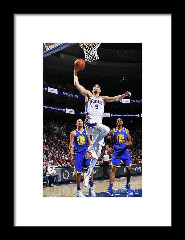 Nba Pro Basketball Framed Print featuring the photograph Golden State Warriors V Philadelphia by Jesse D. Garrabrant