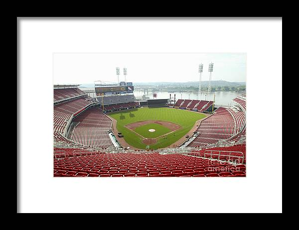Great American Ball Park Framed Print featuring the photograph Great American Ball Park by Andy Lyons