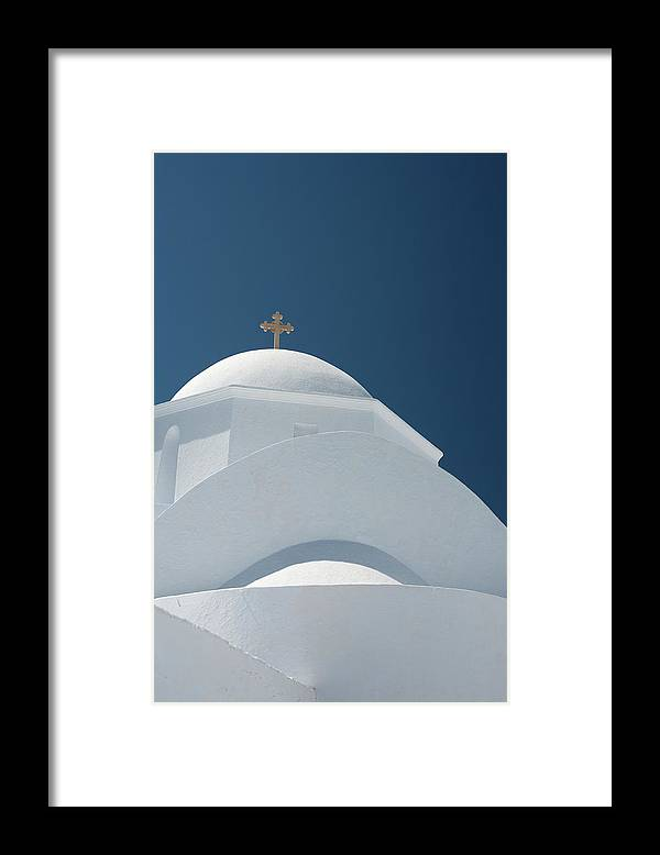 Greek Culture Framed Print featuring the photograph Greek Chapel by Deimagine