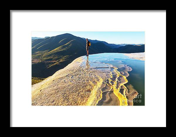 Destination Framed Print featuring the photograph Hierve El Agua, Natural Rock Formations by Galyna Andrushko