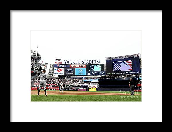 American League Baseball Framed Print featuring the photograph Houston Astros V New York Yankees by Elsa