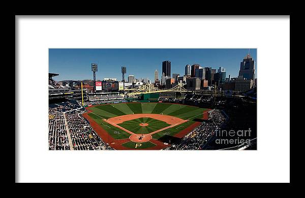 Panoramic Framed Print featuring the photograph Houston Astros V Pittsburgh Pirates by Joe Robbins