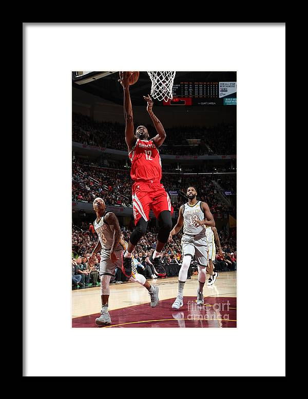 Nba Pro Basketball Framed Print featuring the photograph Houston Rockets V Cleveland Cavaliers by Joe Murphy