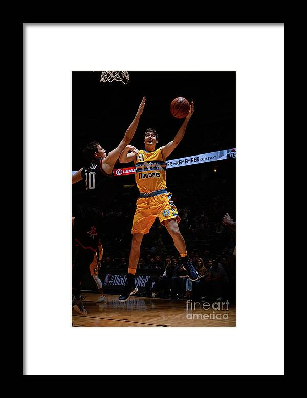 Nba Pro Basketball Framed Print featuring the photograph Houston Rockets V Denver Nuggets by Bart Young