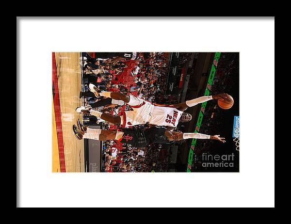 Nba Pro Basketball Framed Print featuring the photograph Houston Rockets V Miami Heat by Oscar Baldizon