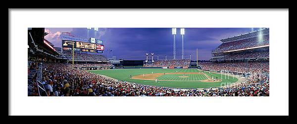 Great American Ball Park Framed Print featuring the photograph Houston V Reds by Jerry Driendl