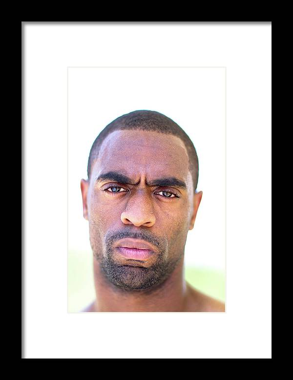 The Olympic Games Framed Print featuring the photograph Iaaf Day In The Life With Tyson Gay by Al Bello