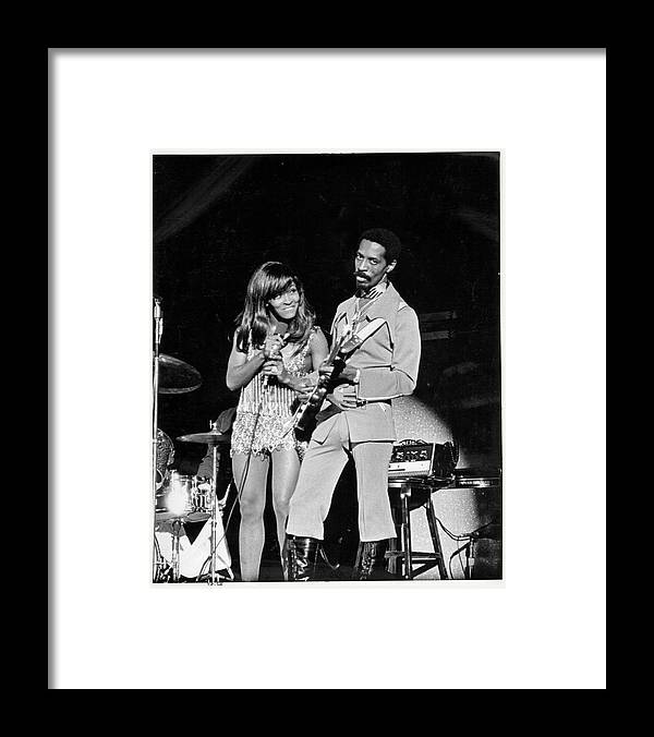Music Framed Print featuring the photograph Ike & Tina At The Greek by Michael Ochs Archives
