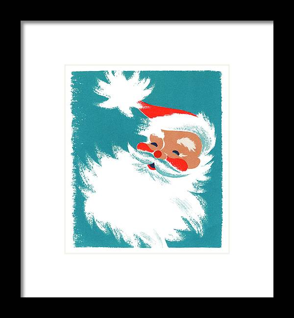 People Framed Print featuring the photograph Illustration Of Santa Claus by Graphicaartis