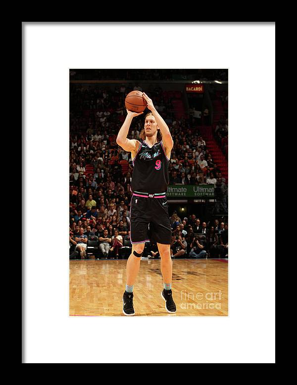 Nba Pro Basketball Framed Print featuring the photograph Indiana Pacers V Miami Heat by Oscar Baldizon