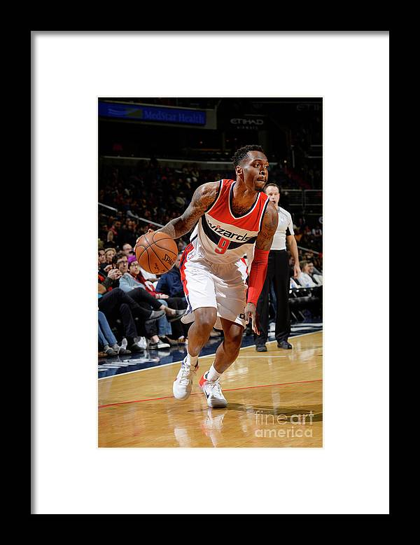 Nba Pro Basketball Framed Print featuring the photograph Indiana Pacers V Washington Wizards by David Dow