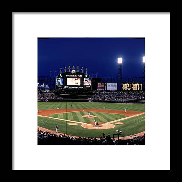 American League Baseball Framed Print featuring the photograph Indians V White Sox by Jerry Driendl