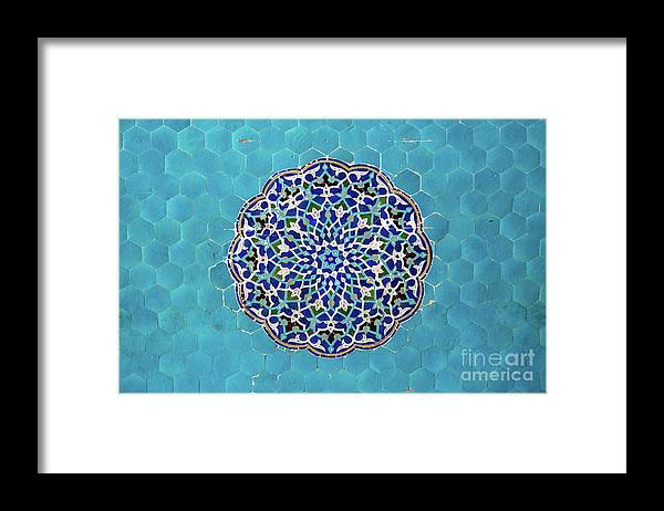 Yazd Framed Print featuring the photograph Jameh Mosque, Yazd, Iran by Sergio Formoso