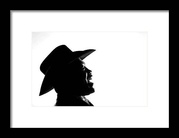 Joe Frazier Framed Print featuring the photograph Joe Frazier Portrait Session by Al Bello