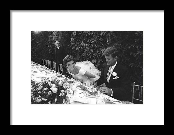Timeincown Framed Print featuring the photograph John F. Kennedy And Jacqueline Kennedy 1 by Lisa Larsen