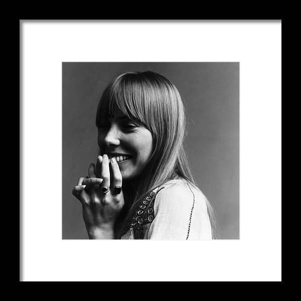 Joni Mitchell Framed Print featuring the photograph Joni Mitchell by Jack Robinson