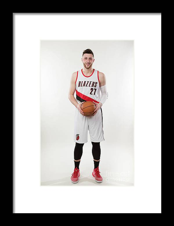 Jusuf Nurkić Framed Print featuring the photograph Jusuf Nurkic Photo Shoot by Sam Forencich