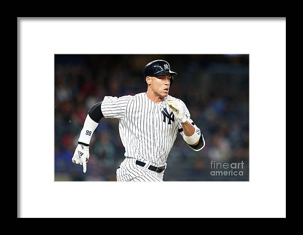 Three Quarter Length Framed Print featuring the photograph Kansas City Royals V New York Yankees 1 by Mike Stobe