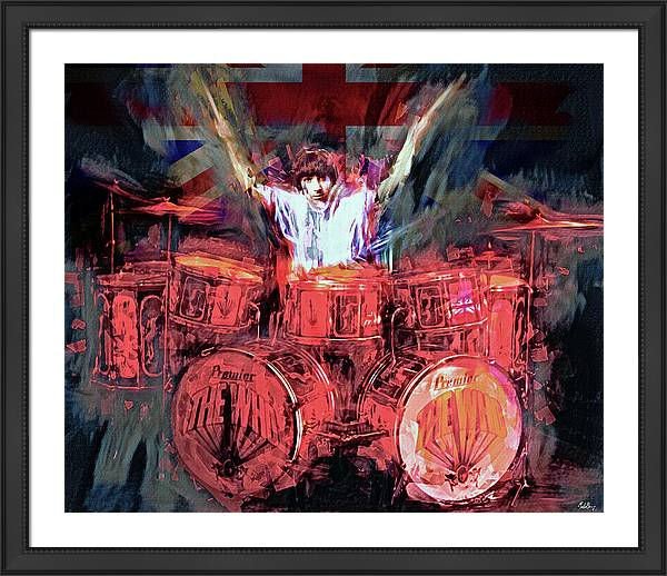 Keith Moon by Mal Bray