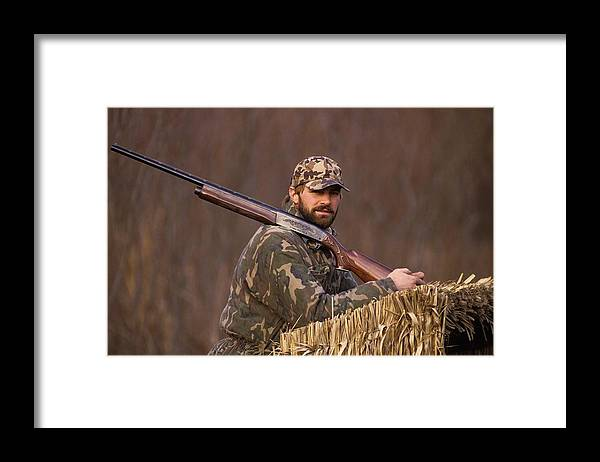1980-1989 Framed Print featuring the photograph Kirk Gibson Goes Duck Hunting by Ronald C. Modra/sports Imagery