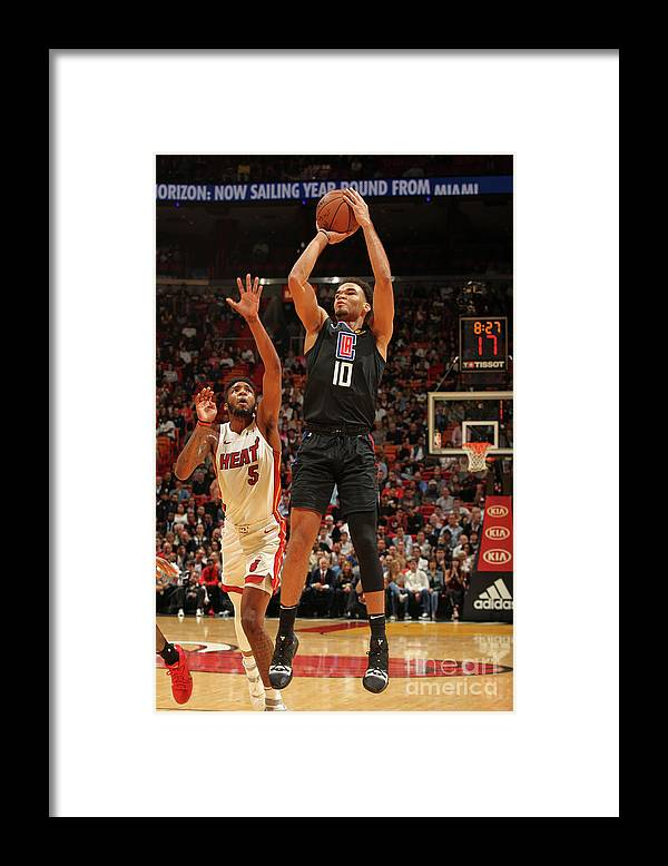 Jerome Robinson Framed Print featuring the photograph La Clippers V Miami Heat by Oscar Baldizon