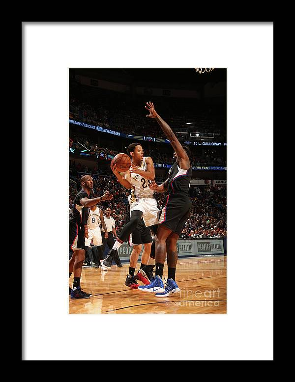 Smoothie King Center Framed Print featuring the photograph La Clippers V New Orleans Pelicans by Layne Murdoch