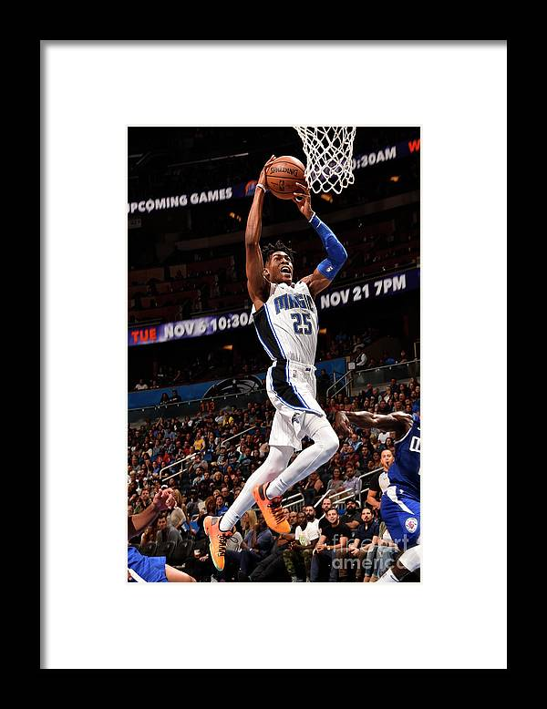 Nba Pro Basketball Framed Print featuring the photograph La Clippers V Orlando Magic by Gary Bassing