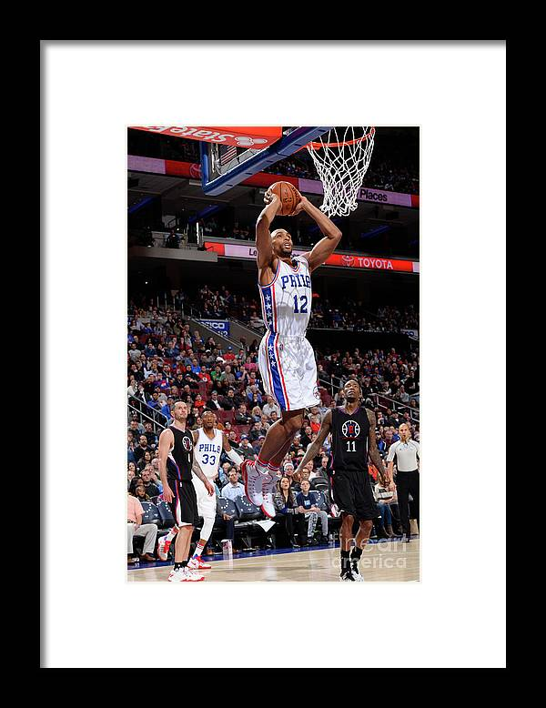 Nba Pro Basketball Framed Print featuring the photograph La Clippers V Philadelphia 76ers by David Dow