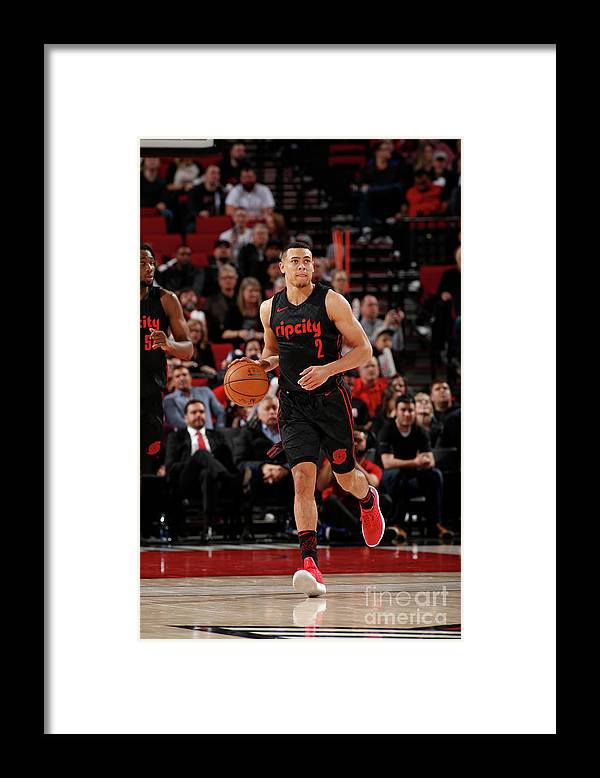 Nba Pro Basketball Framed Print featuring the photograph La Clippers V Portland Trail Blazers by Cameron Browne