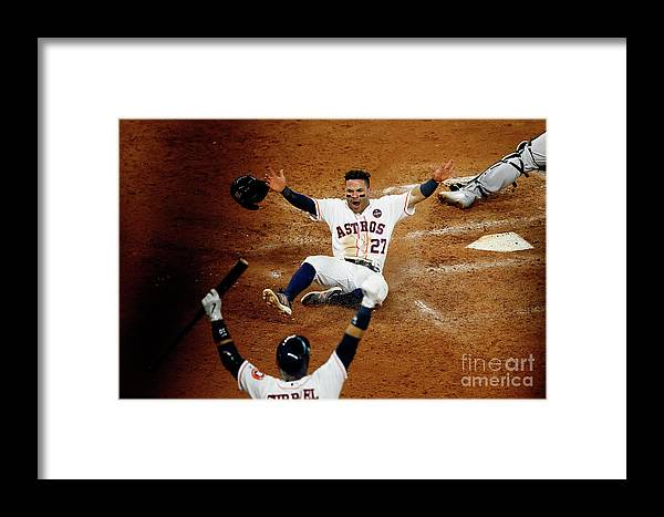 Game Two Framed Print featuring the photograph League Championship Series - New York by Bob Levey
