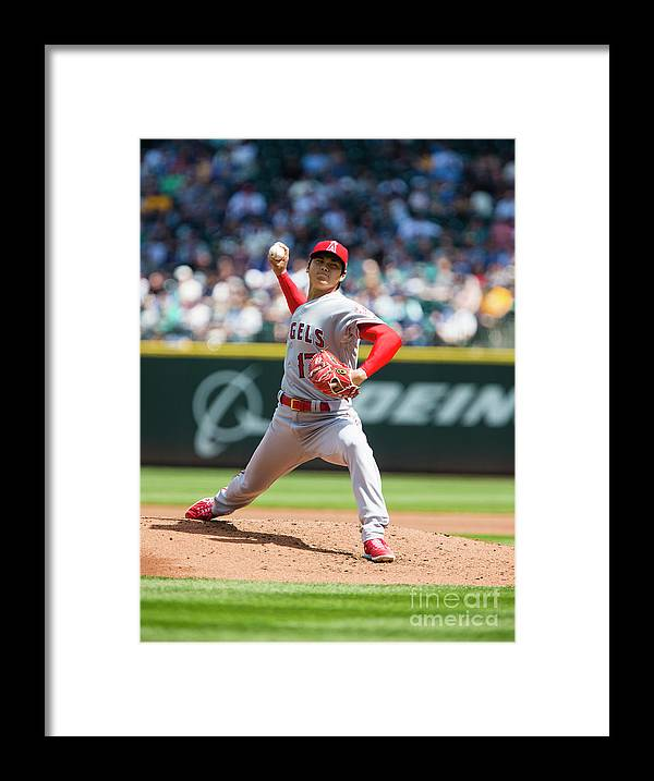 Second Inning Framed Print featuring the photograph Los Angeles Angels Of Anaheim V by Lindsey Wasson