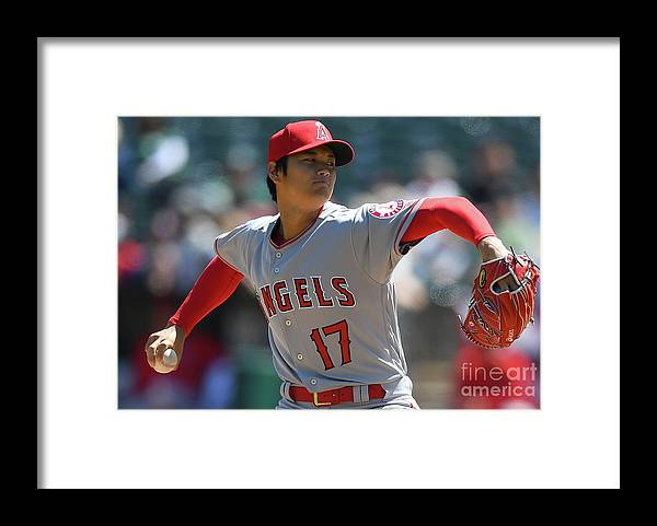 People Framed Print featuring the photograph Los Angeles Angels Of Anaheim V by Thearon W. Henderson