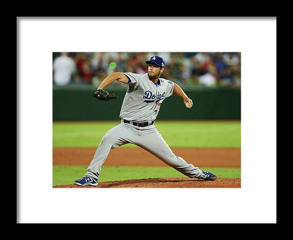 People Framed Print featuring the photograph Los Angeles Dodgers V Arizona 1 by Matt King