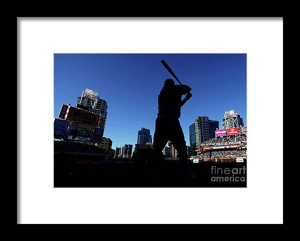 Opening Ceremony Framed Print featuring the photograph Los Angeles Dodgers V San Diego Padres by Donald Miralle