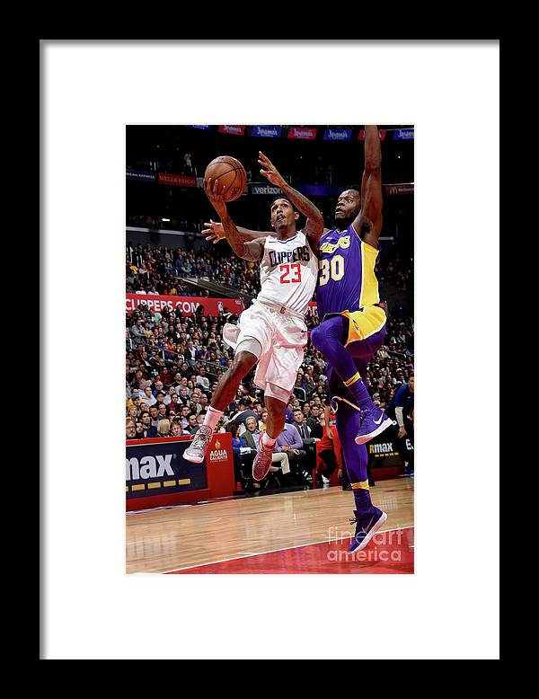 Nba Pro Basketball Framed Print featuring the photograph Los Angeles Lakers V La Clippers by Andrew D. Bernstein