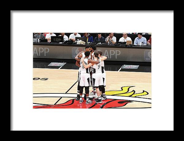 Nba Pro Basketball Framed Print featuring the photograph Los Angeles Lakers V Miami Heat by Joe Murphy